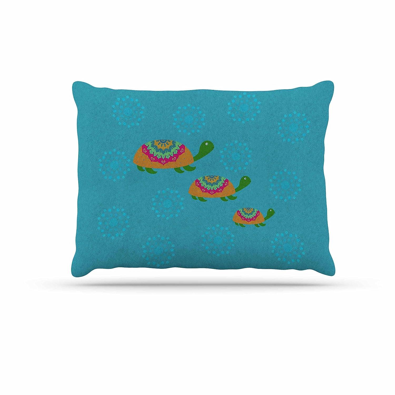 KESS InHouse Cristina Bianco Design Cat & Paper Boat Pink bluee Dog Bed, 50  x 40