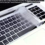 "DHZ ULTRA Thin Transparent Keyboard Cover Soft TPU Skin for MacBook Pro 13"" 15"" 17"" and MacBook Air 13 (with or w/out Retina Display,No Fit 2016 Macbook Pro 13 15 with/without Touch Bar) (Clear TPU)"