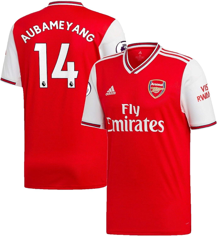 Amazon Com Youth Arsenal 2019 20 Aubameyang Home Long Sleeve Jersey Youth Us Large Red Clothing