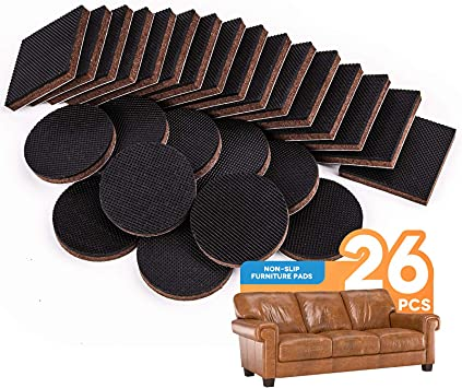 Non Slip Furniture Pads 26pcs Rubber Furniture Grippers Self Adhesive Anti Skid Furniture Pads Furniture Floor Protectors Wood Floor Protector For Keep In Place Furniture And Furniture Stoppers Amazon Com