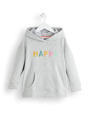 RED WAGON Girls Slogan, Capucha Niñas, Gris (Multicolour), 104 (Talla