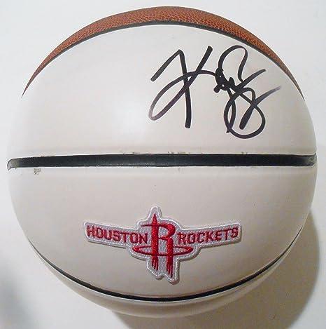 Kenny Smith Signed Houston Rockets Logo Basketball w/COA 2016