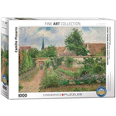EuroGraphics Vegetable Garden Overcast Morning by Camille Pissarro (1000 Piece) Puzzle: Toys & Games