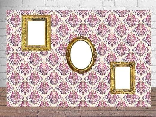 Photocall Marcos Fotos Fondo Damasco Tonos Rosas 2,38 m x 1 ...