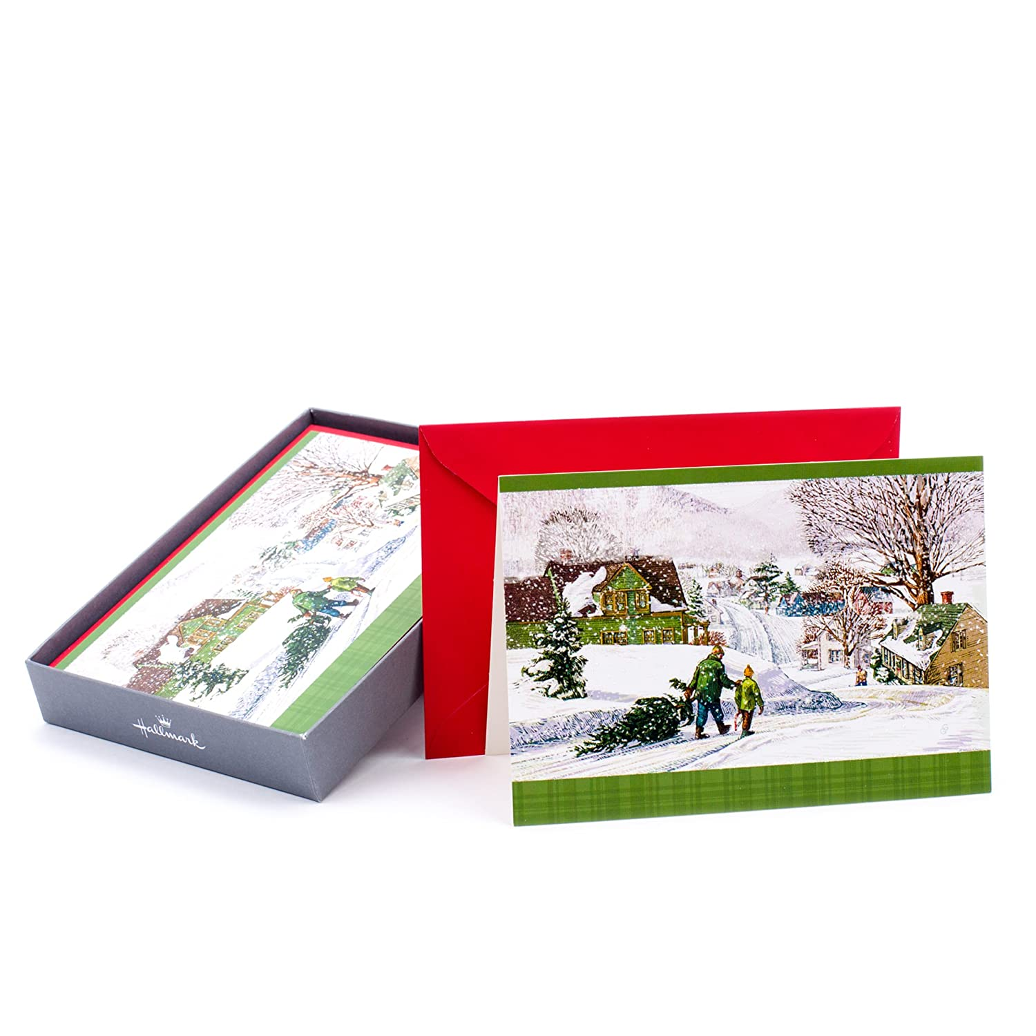 Hallmark Holiday Boxed Cards /(Sweet Merry Christmas Mouse Sleeping ...