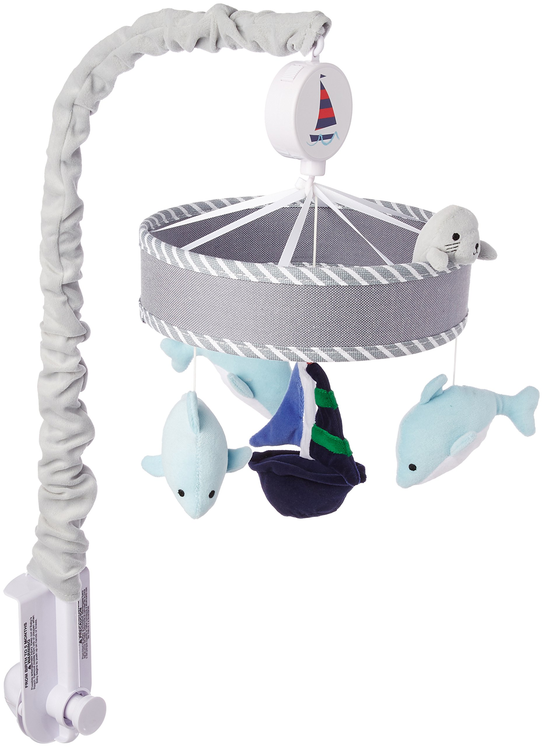 Lambs & Ivy Nautical Musical Mobile, Blue/Gray