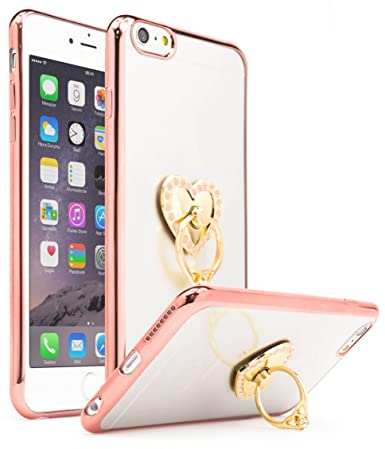 IPhone 6 Plus 6s Case Bastex Ultra Thin Clear Luxury TPU Rose Gold