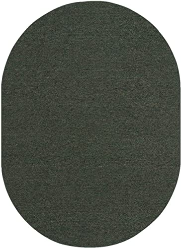Ambiant Saturn Collection Pet Friendly Indoor Outdoor Area Rug Teal – 8 x10 Oval Non Slip Backing