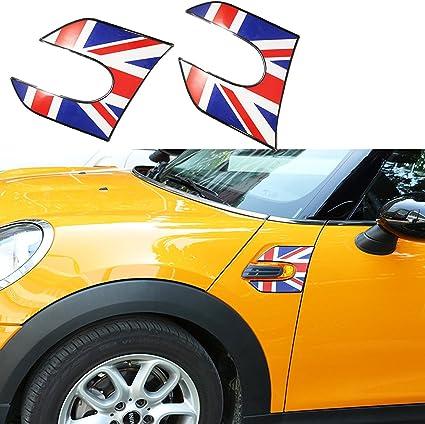 Union Jack Flag Shift Knob Trim Covers Stickers For MINI Cooper F54 F55 F56 F60