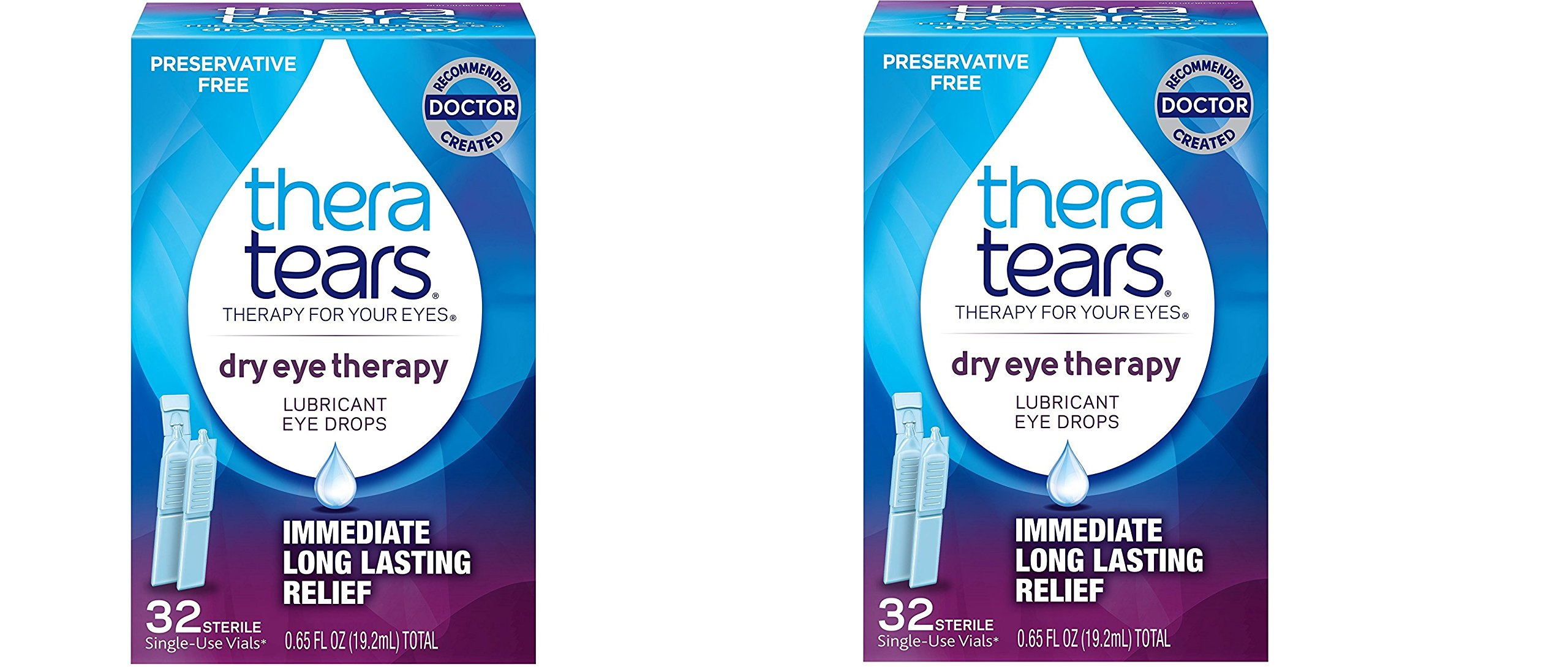 TheraTears Dry Eye Therapy- Lubricant Eye Drops- Preservative Free- 32 CT (2 Pack)