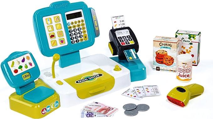 Caja registradora grande con calculadora y accesorios (Smoby 350105) , color/modelo surtido: Amazon.es: Juguetes y juegos