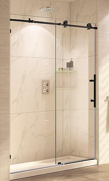Paragon baño crsbs0348-orb sin marco deslizante para mampara de ducha, 48