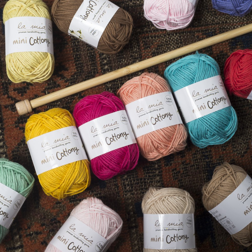 20 Skein %100 Cotton Mini Yarn, Total 17.6 Oz Each 0.88 Oz (25g) / 65 Yrds (60m), Light, Dk, Worsted Assorted Colors Yarn by Lamia (Image #3)