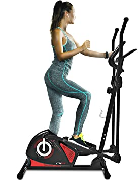 Sportstech CX605 Professional Fitness-Bicicleta elíptica con ergómetro con control de App Smartphone Google Street