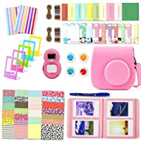 Leebotree Flamingo Pink Camera Accessories Compatible with Instax Mini 9 or Mini 8 8+ Include Case/Album/Selfie Lens/Filters/Wall Hang Frames/Film Frames/Border Stickers/Corner Stickers/Pen