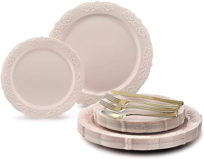 Updated 2021 – Top 10 Vintage Garden Party Disposable Dinnerware Set