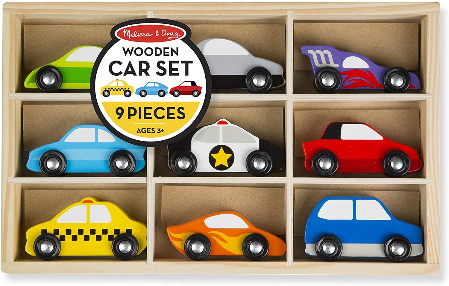 Choose Your Color Wooden Car Sedan with Four Peg Doll Person Passengers and Drivers Montessori Waldorf Toy Gift