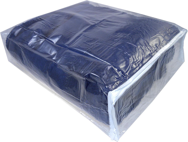 Clear Vinyl Zippered Storage Bags 15x18x4 Inch, Set of 5, AK Plastics by AntiqueKitchen