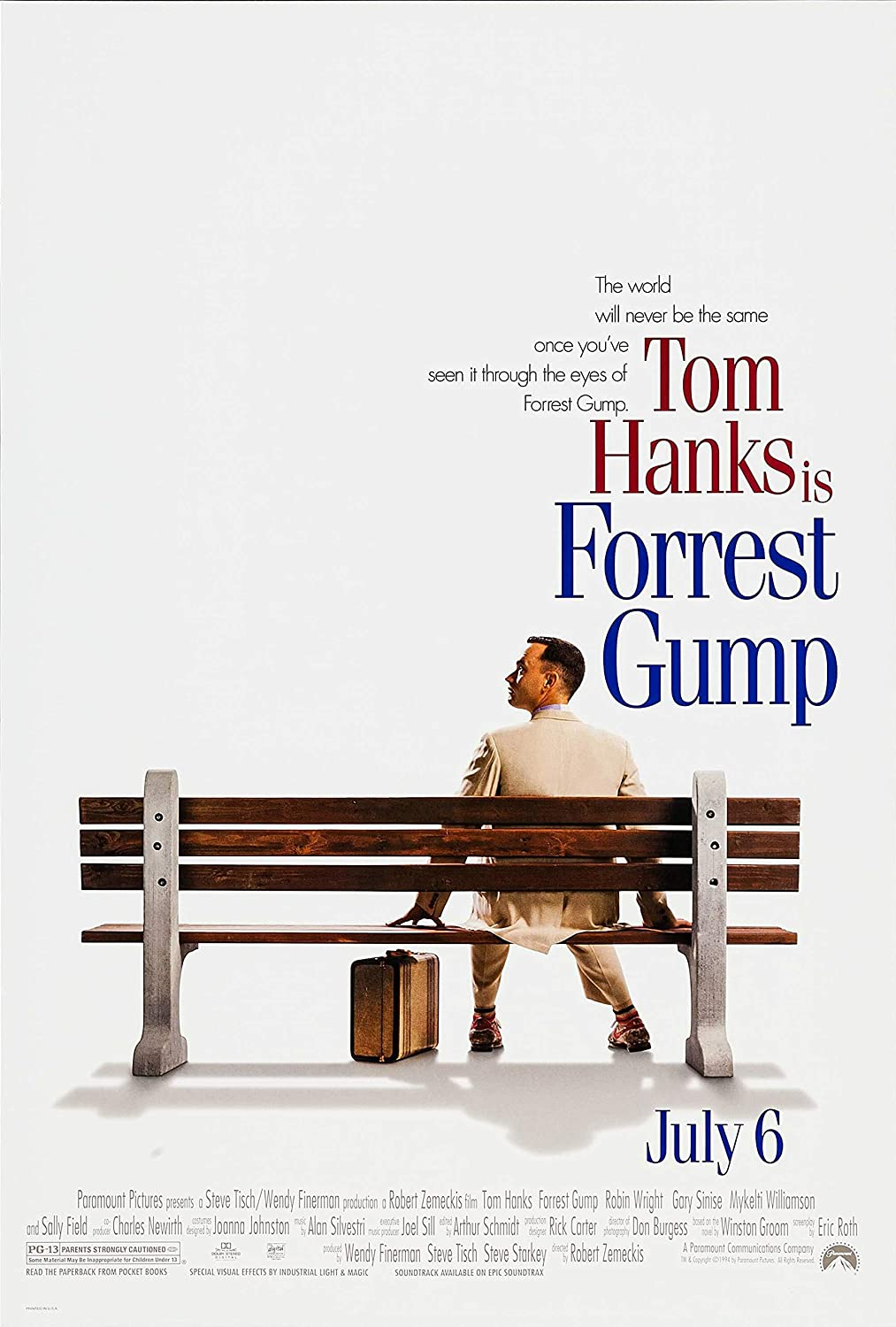 ARTISTIC Movie Poster | Forrest Gump (1994) Movie Poster for Room ...