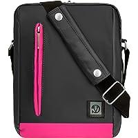 """Vangoddy Pink Trim Anti-Robo Vertical Crossbody Bolsa de Hombro Mensajero para Apple iPad 9.7"""", iPad Pro 10.5"""" & 9.7"""", iPad Mini 7.9"""""""
