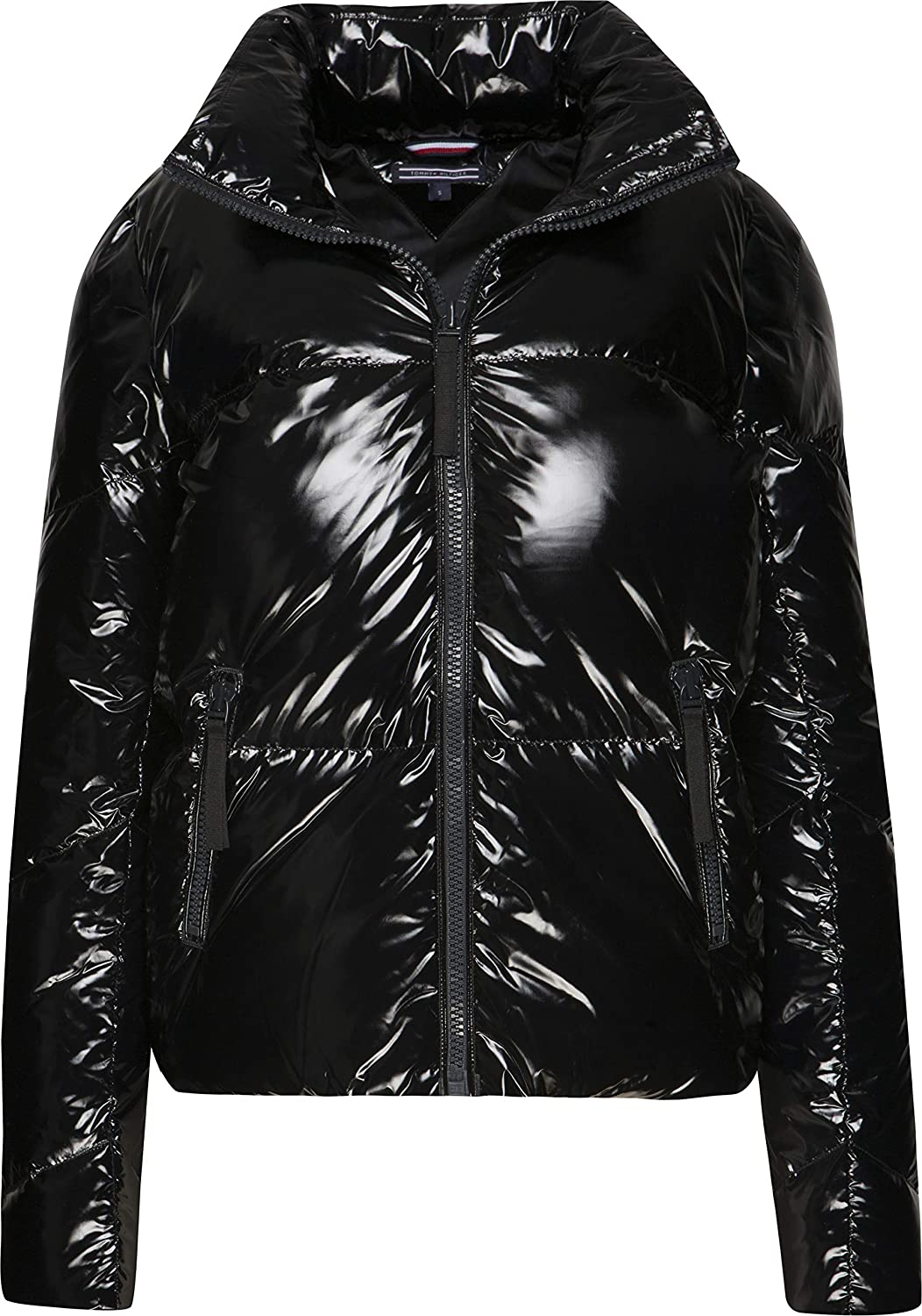 29482fc28 Tommy Hilfiger Ali Candy High Gloss Womens Down Jacket Small Black ...