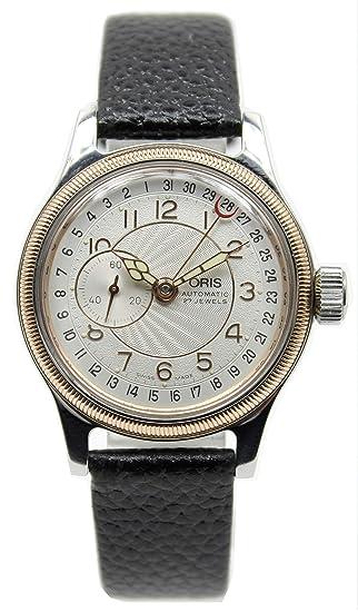 8aff6ce302 オリス]ORIS 腕時計 ビッグクラウン 逆ポインターデイト スモセコ 自動巻き 裏スケ ボーイズ