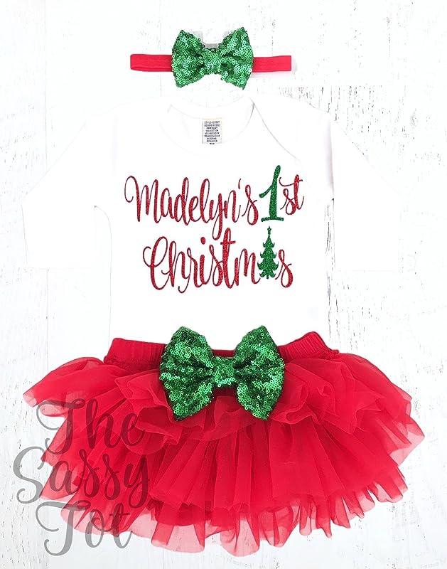 Girls Christmas Outfit Tis the Season Christmas Tutu Baby Girl First Christmas Baby Girl Christmas Outfit My First Christmas 2017
