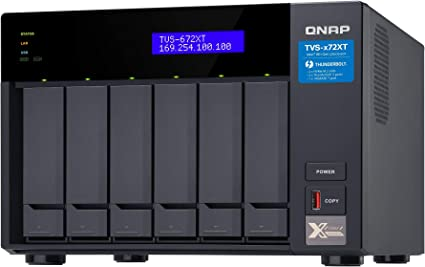 8GB RAM Network-attached Storage QNAP TVS-672XT-i3-8G 6bay backup /& recovery Enclosure Thunderbolt 3 10GbE ready NAS