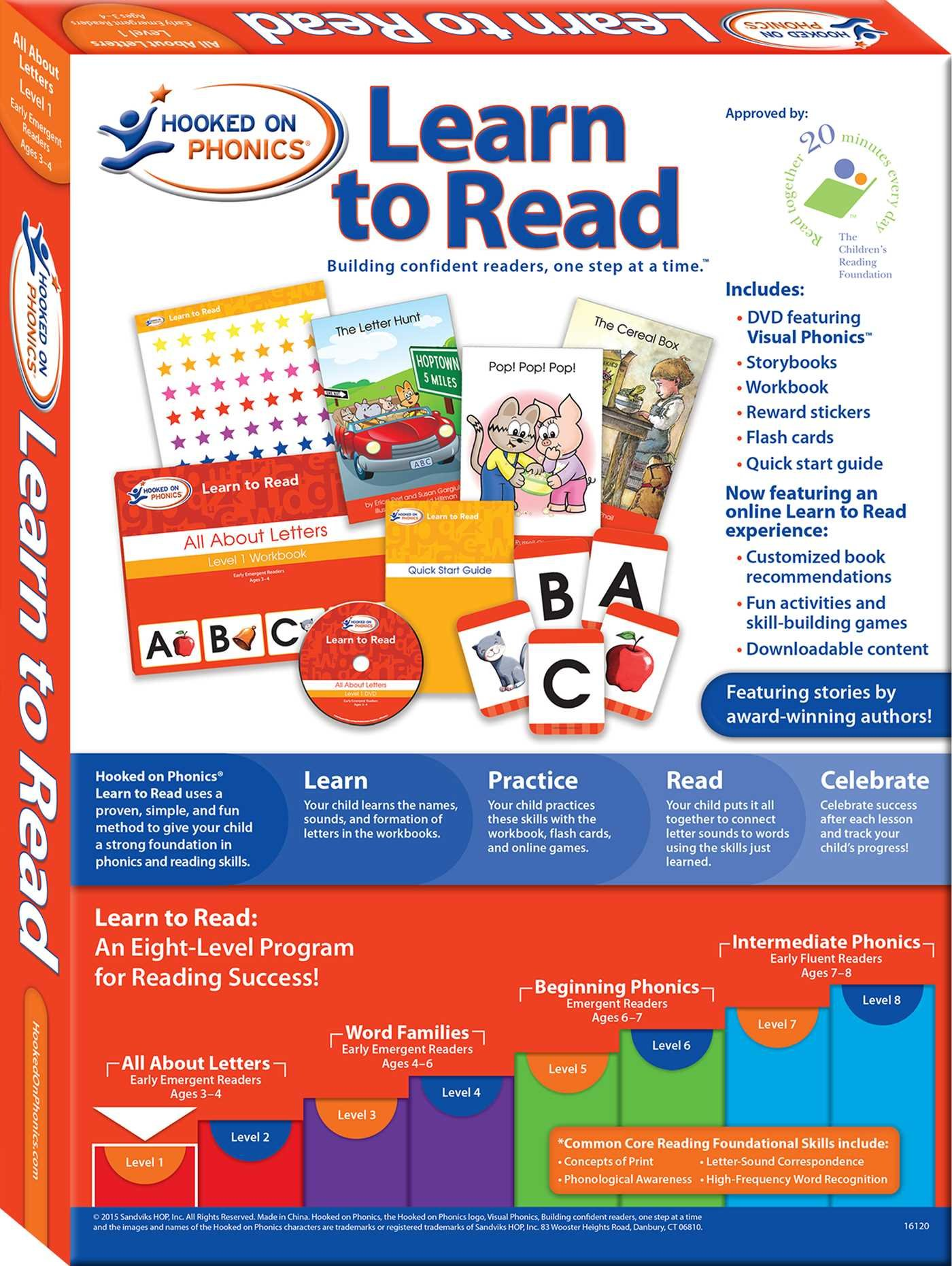 Hooked on Phonics Learn to Read - Level 1: All About Letters (Early