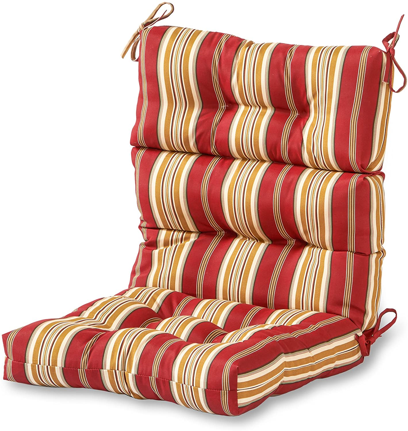 Greendale Home Fashions AZ4809-ROMASTRIPE Tuscan Stripe 44'' x 22'' Outdoor Seat/Back Chair Cushion
