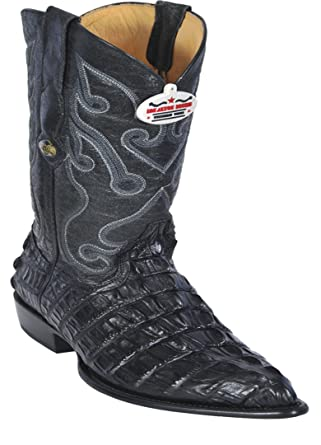 ec47d0802df Amazon.com: Men's J-Toe Genuine Leather Alligator Tail Print Skin ...