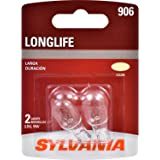 SYLVANIA 906 Long Life Miniature Bulb, (Contains 2 Bulbs)