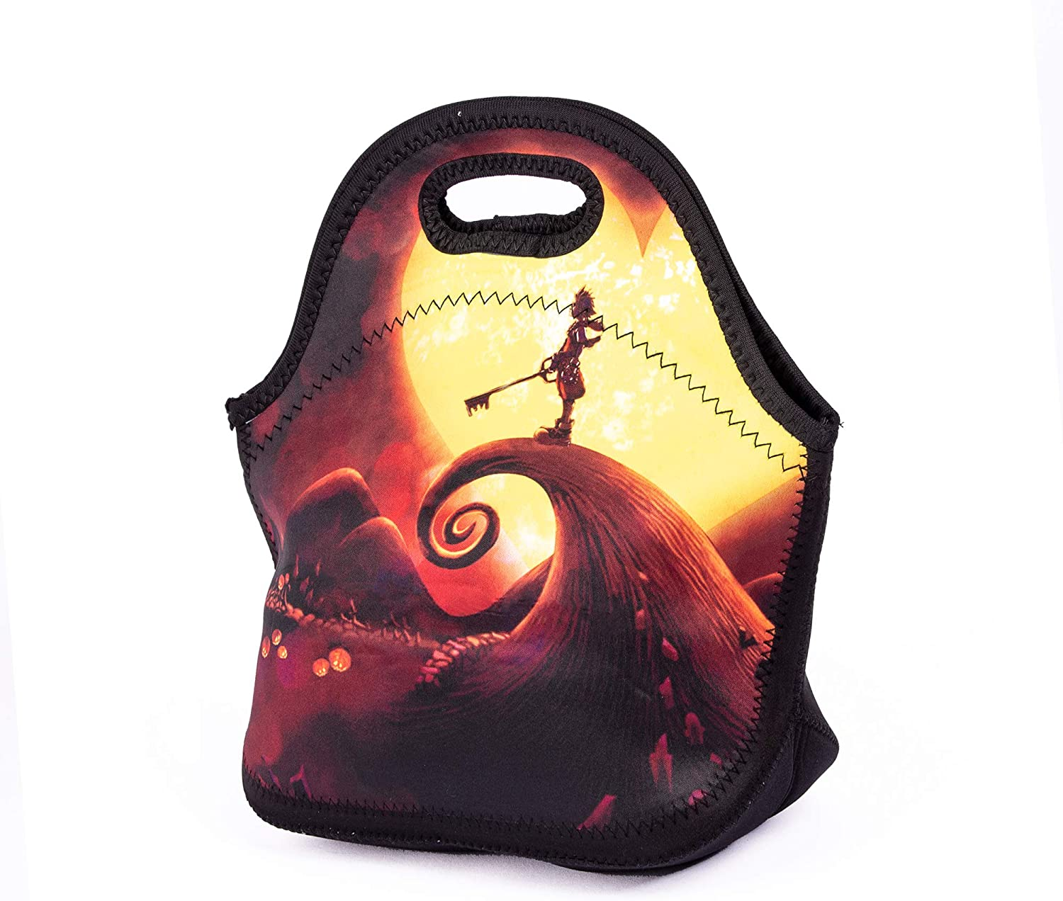 Women Kids Boys Girls Nightmare Before Christmas Lunch Bag Funny Kingdom Heart Lunch Box Reusable Storage Bags Insulated Container for School Picnic Carrying Lunchbox Organizer For Men Adults