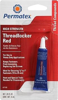 Permatex 27100 High Strength Threadlocker Red