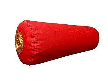 Buckwheat - Cojín para Yoga (símbolo de boletín, Color Rojo ...