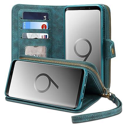 Amazon.com: Samsung Galaxy S9 cierre portafolios Funda para ...