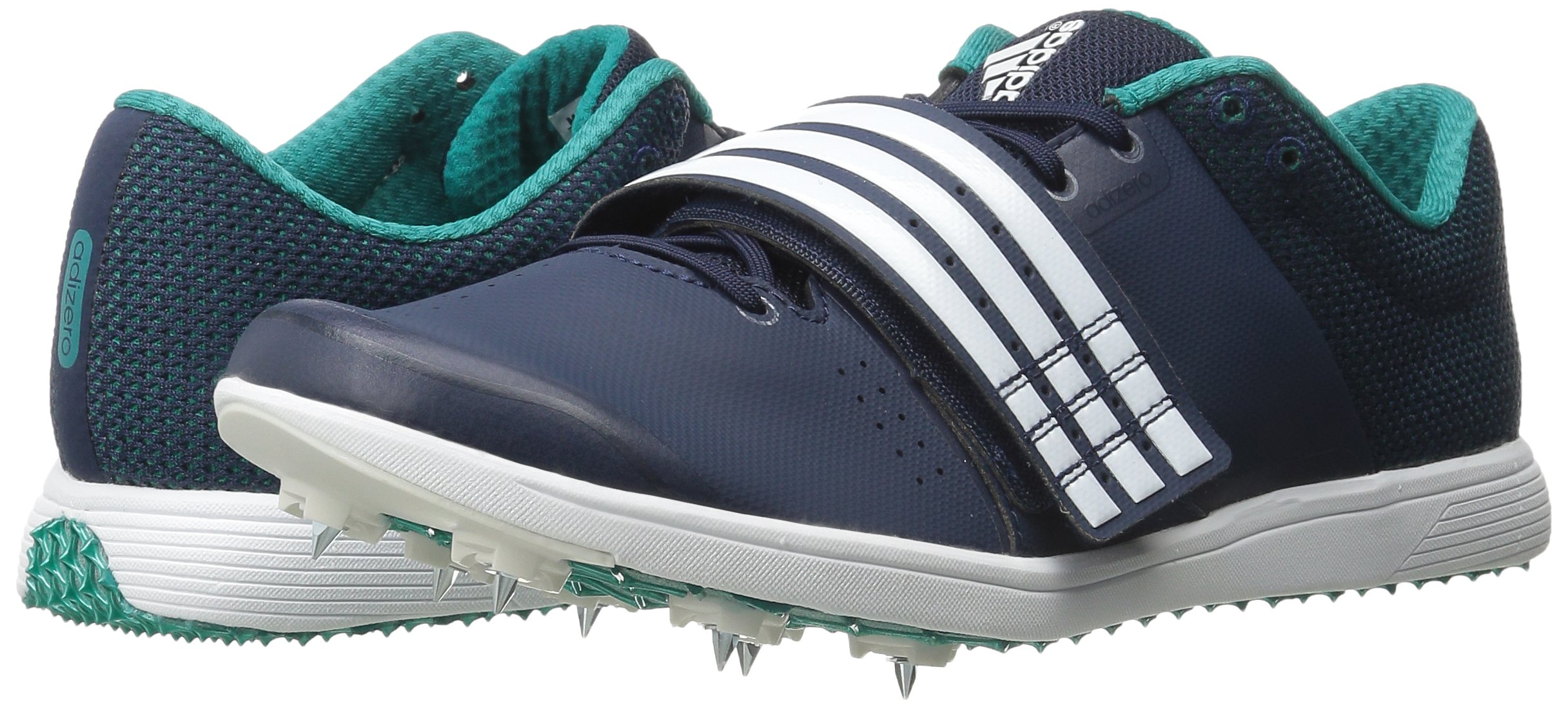 adidas Performance Women's Adizero TJ/PV Running Shoe with Spikes,Collegiate Navy/White/Green,14 M US by adidas (Image #6)