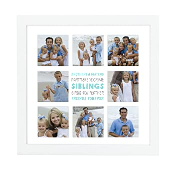 Amazoncom Pearhead Siblings Sentiment Keepsake Collage Photo