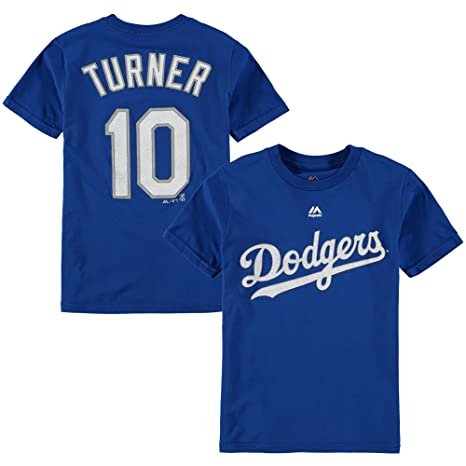 f62fdbe9917 Outerstuff Justin Turner Los Angeles Dodgers  10 Youth Player T-Shirt (Youth  Medium