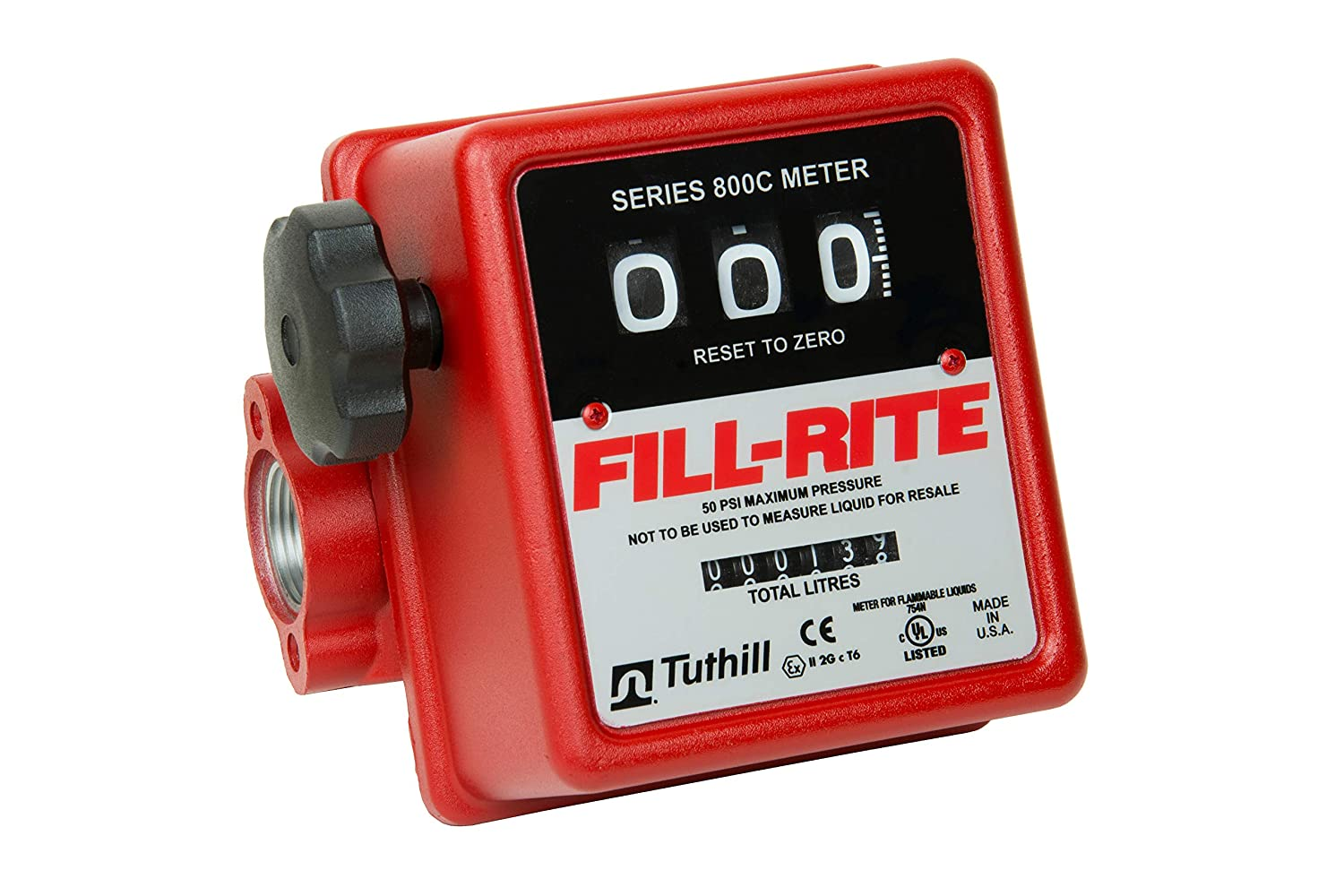 Fill-Rite 807CL1X418 3/4' 20-75 LPM Mechanical Nutating Disc Fuel Transfer Meter Tuthill Corporation