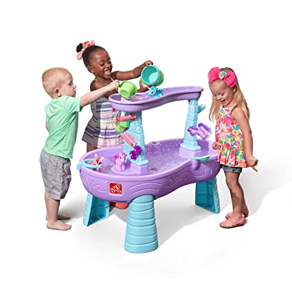 Step2 Rain Showers Unicorns Water Table Kids Purple Water Play Table With 13 Pc Unicorn Accessory Set