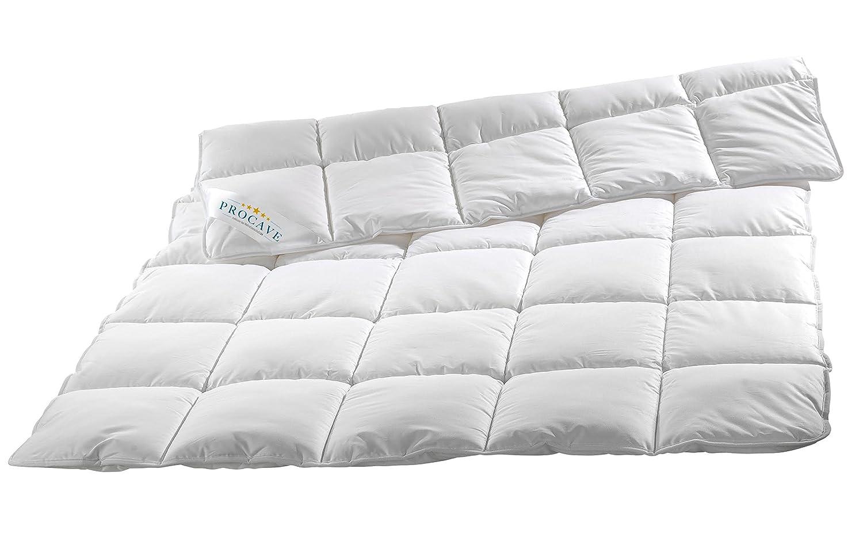 PROCAVE Micro-Comfort Ganzjahresdecke 240x220 cm   Mircofaser   Steppdecke   Bettdecke   Einziehdecke   Mono Decke   Steppbett   Soft Touch
