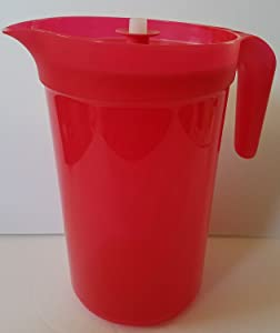 Tupperware Classic Sheer 1 Gallon Pitcher in Starlight Lipstick with Infuser Insert