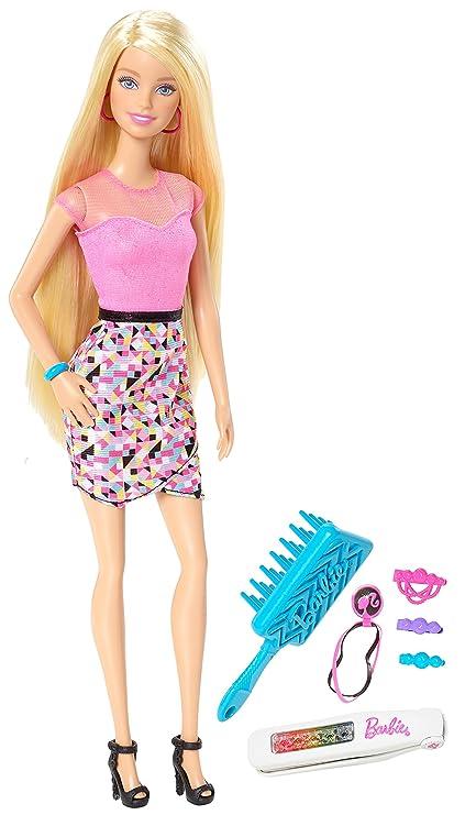 Barbie Rainbow Makeover Hair Feature Doll: Barbie: Amazon.com.mx ...
