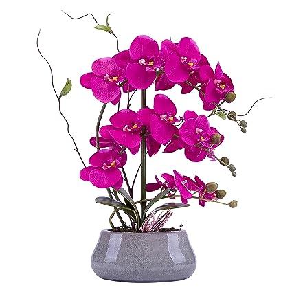 Amazon Lifelike Large Flower Arrangement With Decorative Vase