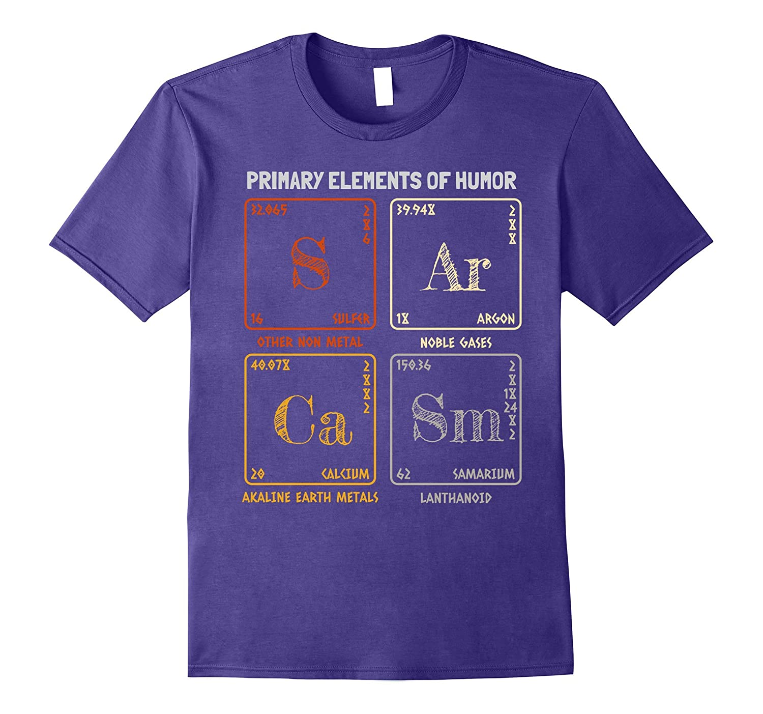 Sarcasm Elements of Humor Periodic Table T-Shirt Vintage-FL