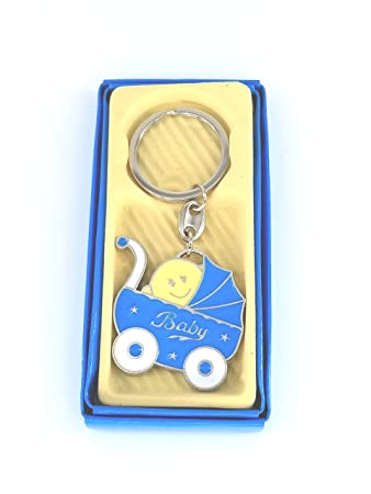 Amazon.com : 12xBABY Shower Favors Key Chains Blue BOY ...