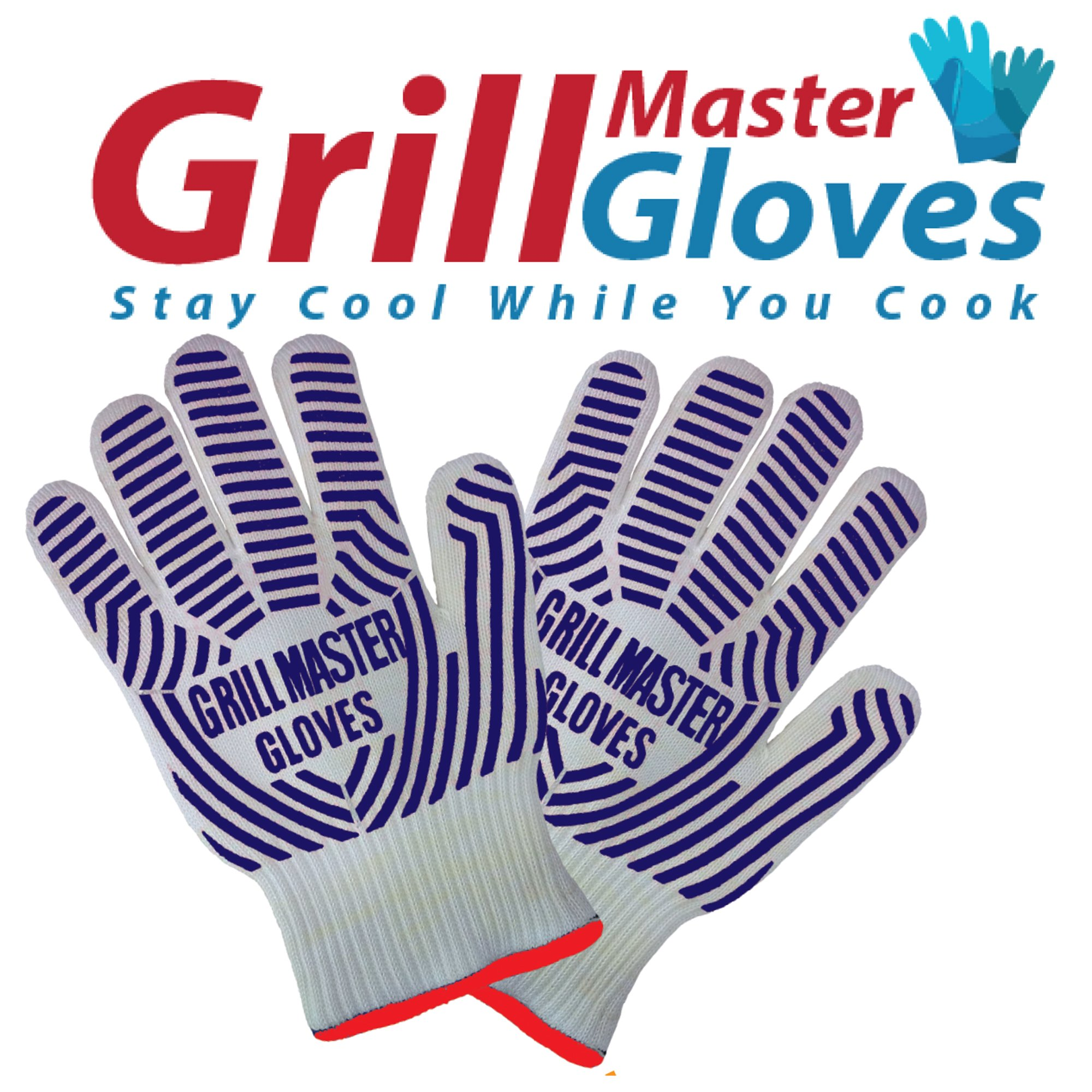 Grill Gloves Heat Resistant Extreme BBQ Gloves Oven Gloves Rated to 932f - Ideal Grilling Gloves by Grill Master (Black) by Grill Master Gloves (Image #4)