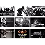 "9x Poster Fabric Bodybuilding Men Girl Fitness Workout Quotes Motivational Inspiration Muscle Gym Font 20x13"" (50x33cm) (19-27)"