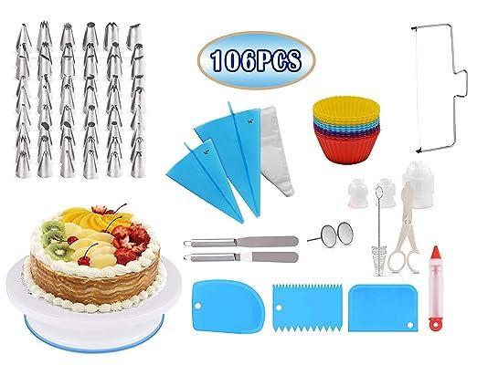 Ever Rich ® 106 Piezas Kit de herramientas de pastelería ...